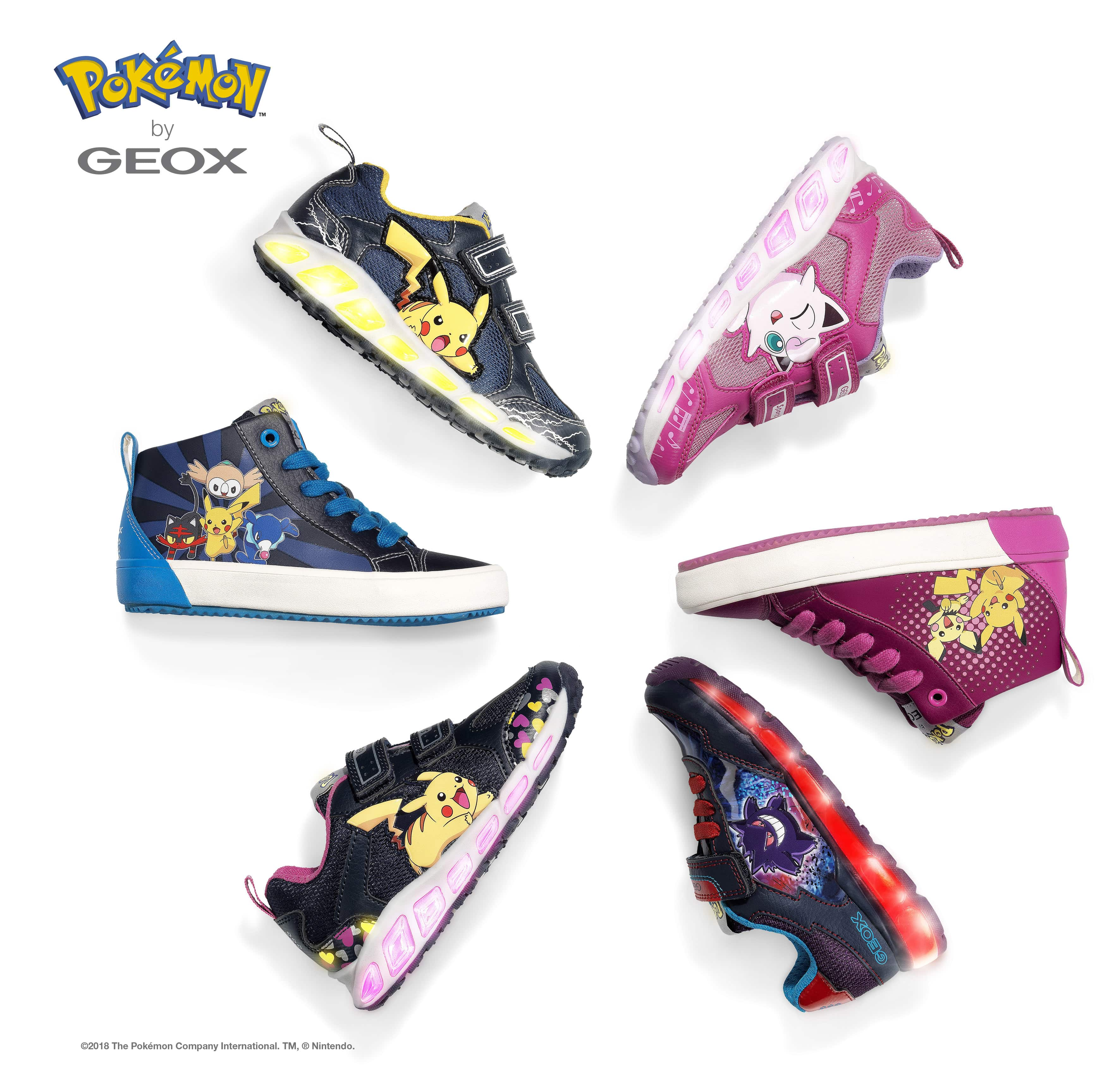 Pokémon: Geox lancia la collezione di scarpe